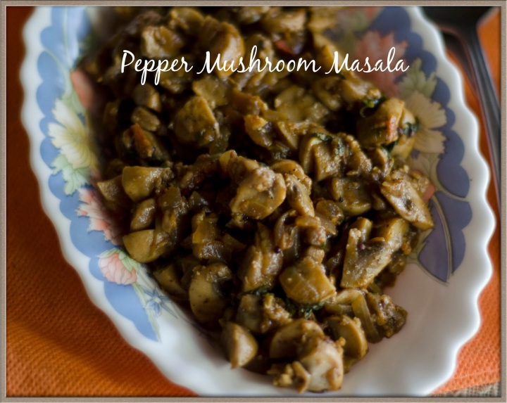 Pepper Mushroom Masala